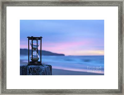 Hourglass Twilight Sky Framed Print