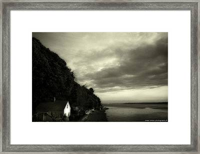 Hous On The River Framed Print