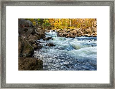 Housatonic River Autumn Framed Print by Bill Wakeley