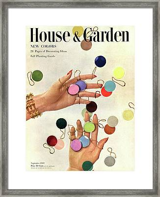 House & Garden Cover Of Woman's Hands With An Framed Print