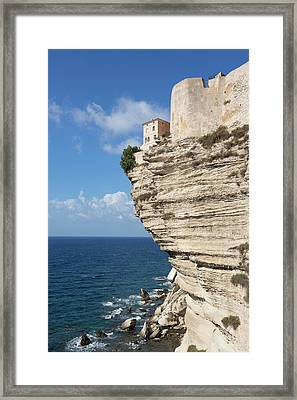 House Above Overhang Framed Print by Dr Juerg Alean
