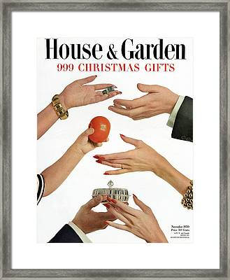 House And Garden 999 Christmas Gifts Cover Framed Print by Herbert Matter