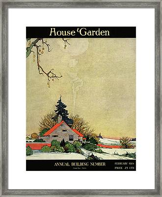 House And Garden Annual Building Number Cover Framed Print