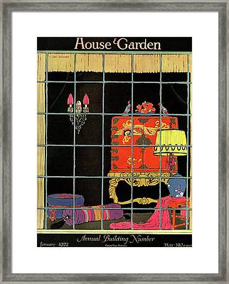House And Garden Annual Building Number Cover Framed Print by H. George Brandt
