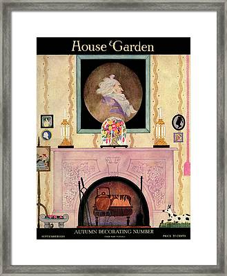 House And Garden Autumn Decorating Number Cover Framed Print