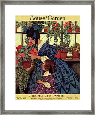 House And Garden Christmas Gift Number Cover Framed Print