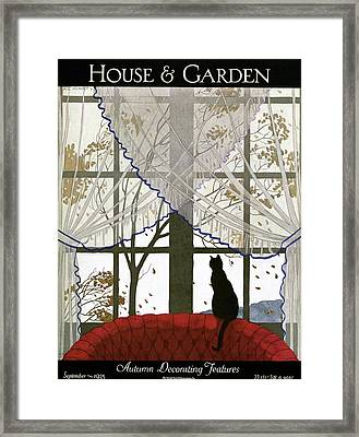 House And Garden Cover Framed Print by Andre E.  Marty