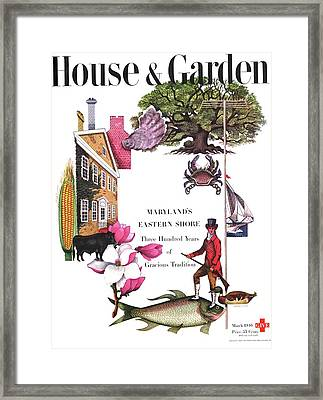 House And Garden Cover Framed Print by Edna Eicke