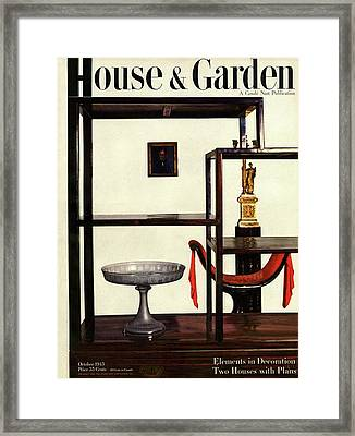 House And Garden Cover Featuring A Chinese Framed Print