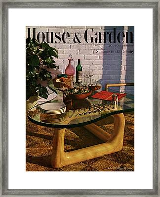 House And Garden Cover Featuring Brunch Framed Print by John Rawlings
