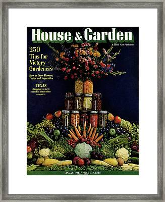 House And Garden Cover Featuring Fruit Framed Print
