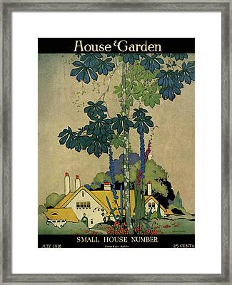 House And Garden Cover Framed Print