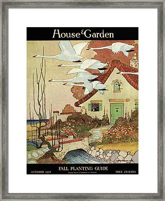 House And Garden Fall Planting Guide Framed Print
