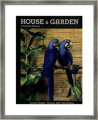 House And Garden Furniture Number Cover Framed Print by Anton Bruehl