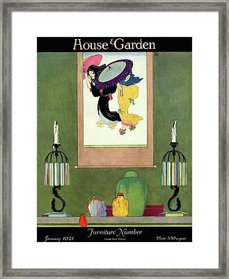 House And Garden Furniture Number Framed Print