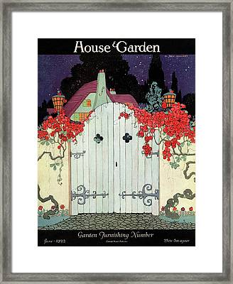 House And Garden Garden Furnishing Number Cover Framed Print by H. George Brandt