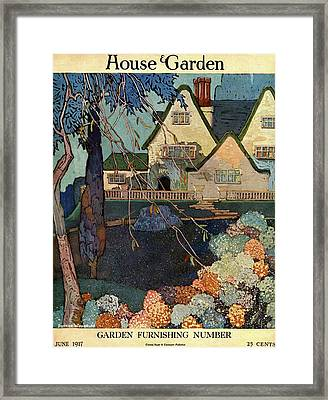 House And Garden Garden Furnishing Number Cover Framed Print by Porter Woodruff