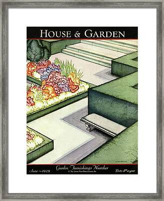 House And Garden Garden Furnishings Number Cover Framed Print by H. George Brandt