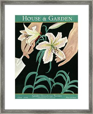 House And Garden Garden Furnishings Number Framed Print by J. C. Atherton