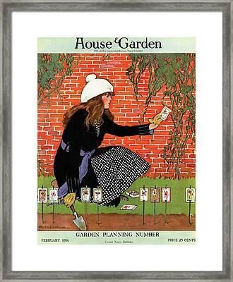 House And Garden Garden Planting Number Cover Framed Print