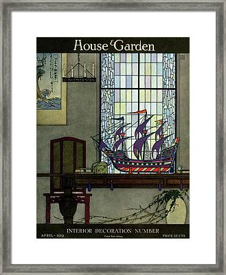 House And Garden Framed Print
