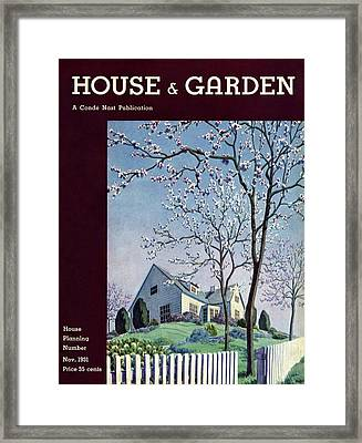 House And Garden House Planning Number Cover Framed Print