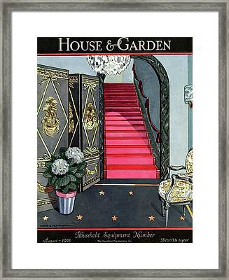 House And Garden Household Equipment Number Cover Framed Print