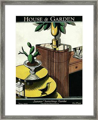 House And Garden Household Equipment Number Cover Framed Print by Marion Wildman