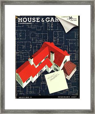 House And Garden Houses With Plans Cover Framed Print