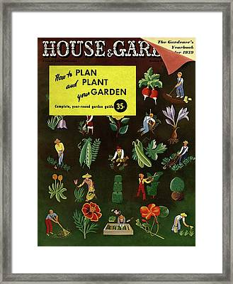 House And Garden How To Plan And Plant Framed Print