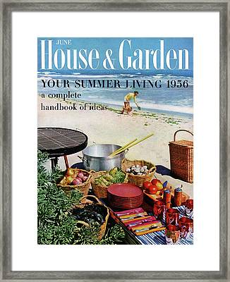 House And Garden Ideas For Summer Issue Cover Framed Print