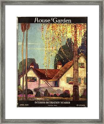 House And Garden Interior Decoration Number Cover Framed Print by Porter Woodruff