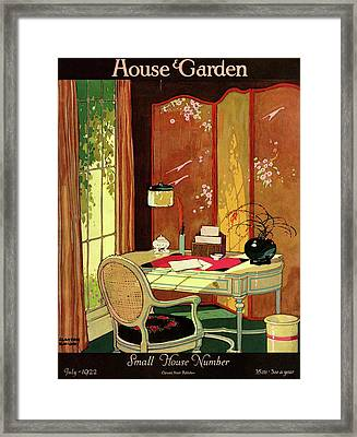 House And Garden Small House Number Framed Print by Clayton Knight