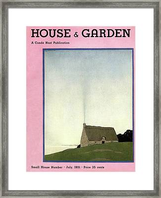 House And Garden Small House Number Cover Framed Print by Andre E.  Marty