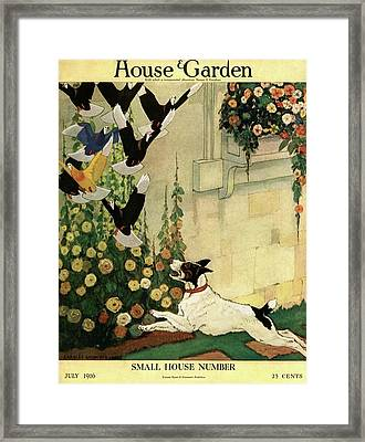 House And Garden Small House Number Cover Framed Print by Charles Livingston Bull