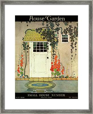 House And Garden Small House Number Cover Framed Print by H. George Brandt
