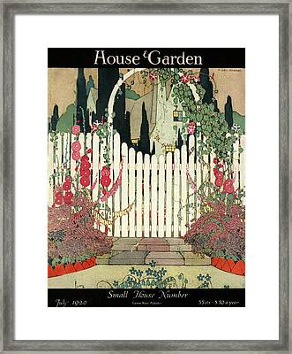 House And Garden Small House Number Framed Print by H. George Brandt