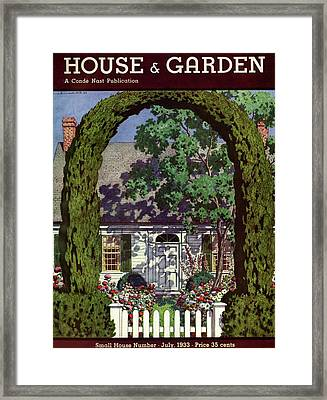 House And Garden Small House Number Framed Print by Pierre Brissaud