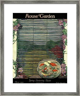 House And Garden Spring Gardening Guide Cover Framed Print by Ethel Franklin Betts Baines