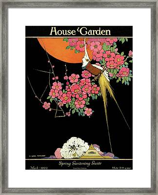 House And Garden Spring Gardening Guide Framed Print by H. George Brandt