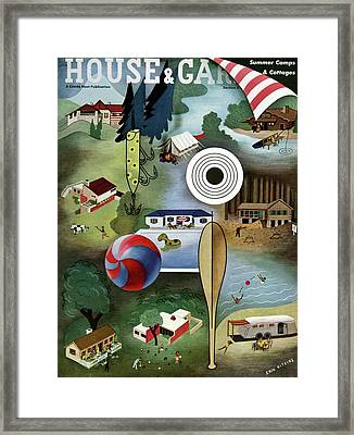 House And Garden Summer Camps And Cottages Cover Framed Print