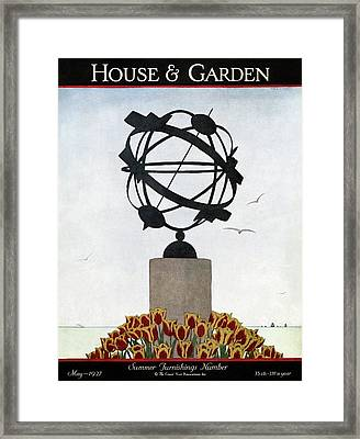 House And Garden Summer Furnishings Number Framed Print by Andre E.  Marty