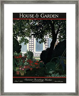 House And Garden Summer Furnishings Number Cover Framed Print