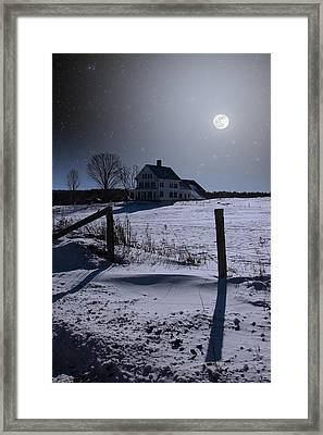 House At Night Framed Print