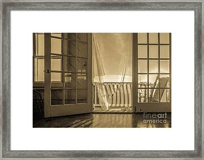 House At The Beach Framed Print by Diane Diederich