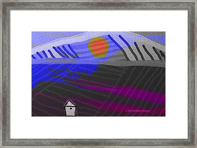 House At The Bottom Of The Hill Framed Print by Lenore Senior