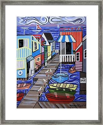 House Boats For Sale Framed Print by Anthony Falbo
