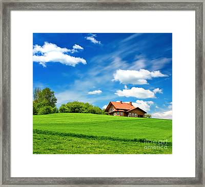House Framed Print by Boon Mee