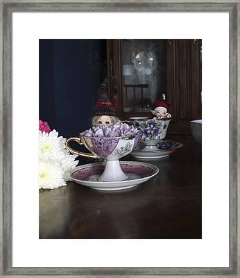 House Brownie Tea Party 1 Framed Print