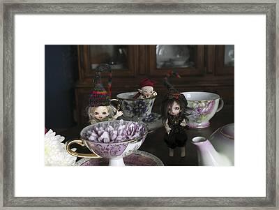 House Brownie Tea Party 2 Framed Print
